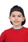 Glimlachende jongen in honkbal GLB royalty-vrije stock fotografie