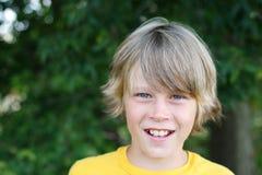 Glimlachende Jongen Preteen royalty-vrije stock foto's