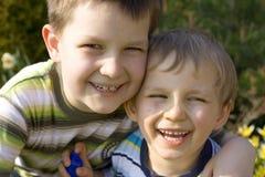 Glimlachende jongens Royalty-vrije Stock Afbeeldingen