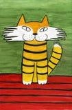 Glimlachende kat stock illustratie