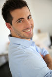 Glimlachende kerel Royalty-vrije Stock Fotografie