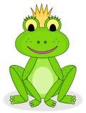 Glimlachende kikkerprinses royalty-vrije stock fotografie