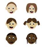 Glimlachende kinderen stock illustratie
