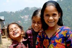 Glimlachende kinderen bij dalhousie Stock Foto