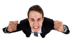 Glimlachende knappe zakenman Stock Afbeeldingen
