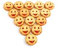 Glimlachende koekjes Stock Afbeeldingen