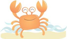 Glimlachende Krab Stock Foto's