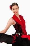 Glimlachende Latijns-Amerikaanse danser Stock Afbeelding