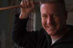 Glimlachende Loodgieter Royalty-vrije Stock Foto