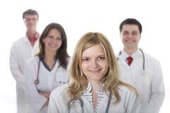 Glimlachende medische artsen met stethoscopen