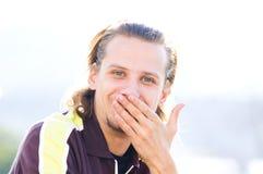 Glimlachende mens stock fotografie