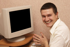 glimlachende mens Stock Afbeelding