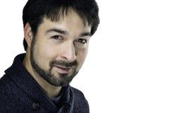 Glimlachende mens met baard Royalty-vrije Stock Afbeeldingen
