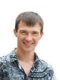 Glimlachende mens van dertig jaar oud Royalty-vrije Stock Foto's