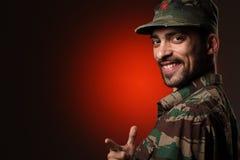 Glimlachende militair Royalty-vrije Stock Foto