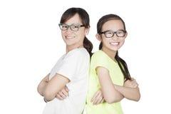 Glimlachende moeder en dochter Stock Afbeelding