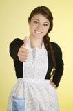 Glimlachende mooie jonge Spaanse donkerbruine bakker Stock Afbeelding