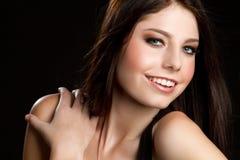Glimlachende Mooie Vrouw royalty-vrije stock foto's