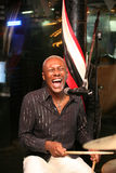 Glimlachende musicus Stock Foto's