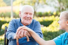 Glimlachende patiënt royalty-vrije stock fotografie