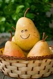 Glimlachende peren Royalty-vrije Stock Foto's