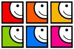 Glimlachende pictogrammen Royalty-vrije Stock Foto's