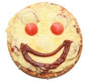 Glimlachende pizza Royalty-vrije Stock Afbeelding