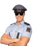 Glimlachende politieagent Royalty-vrije Stock Afbeelding