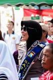 Glimlachende Politieagente Royalty-vrije Stock Afbeelding