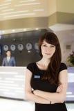 Glimlachende receptionnist Royalty-vrije Stock Fotografie