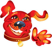Glimlachende rode hond stock illustratie