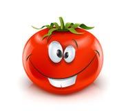 Glimlachende rode rijpe tomaat Stock Foto's