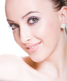 Glimlachende schichtige jonge vrouw Royalty-vrije Stock Afbeelding