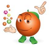 Glimlachende sinaasappel Royalty-vrije Stock Fotografie