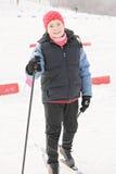 Glimlachende skiër Royalty-vrije Stock Afbeeldingen
