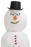 Glimlachende sneeuwman Stock Afbeelding