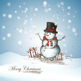 Glimlachende Sneeuwman stock foto