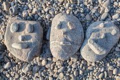 Glimlachende stenen Stock Foto's