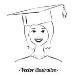 Glimlachende student royalty-vrije illustratie