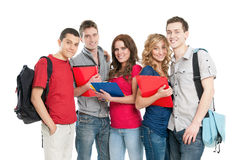 Glimlachende studenten Royalty-vrije Stock Fotografie
