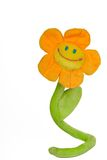 Glimlachende stuk speelgoed bloem royalty-vrije stock foto's