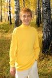 Glimlachende tiener Stock Foto