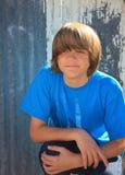 Glimlachende tienerjongen Stock Foto's