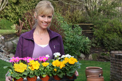 Glimlachende tuinman royalty-vrije stock fotografie