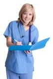 Glimlachende Verpleegster royalty-vrije stock afbeeldingen