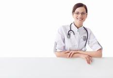 Glimlachende verpleegster royalty-vrije stock fotografie