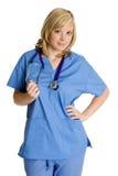 Glimlachende Verpleegster Stock Foto's