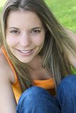 Glimlachende Vrouw Stock Foto's