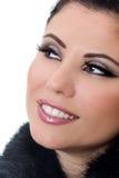 Glimlachende vrouw met make-up Stock Afbeeldingen
