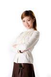 Glimlachende vrouwelijke bedrijfsvrouw Stock Afbeelding